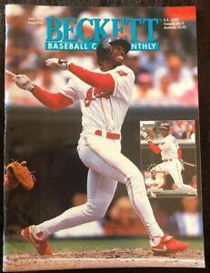 BECKETT: BASEBALL CARD MONTHLY (KENNY LOFTON) - June 1995 - USED BASEBALL MAGAZI