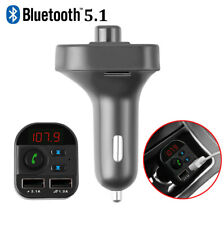 FM Transmitter, Bluetooth FM Transmitter Radio Adapter Car Kit With 5V New V5.0