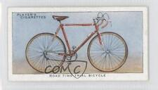 1939 Player's Cycling Tobacco Base #37 Road Time Trial Bicycle Card 1h2