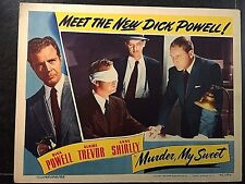 DICK POWELL IN MURDER, MY SWEET 1944, ORIGINAL LOBBY CARD