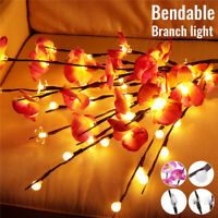 20 LED Willow Branch Lamp Fairy String Light Christmas Home Party Decor