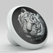 Tiger Animal Ceramic Knob Pull Kitchen Bathroom Closet Drawer Cabinet Vanity 750