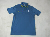 Footjoy Golf Polo Shirt Adult Large Blue Yellow Dri Fit Golfer Rugby Casual Mens