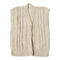 Strickweste - SCHAFWOLLE Unisex Weste 100% Wolle