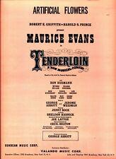 ARTIFICIAL FLOWERS SHEET MUSIC-TENDERLOIN-PRINCE-PIANO/VOCAL/GUITAR-1960-NEW!!