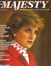 PRINCESS DIANA UK Majesty Magazine 10/86 Vol 7 No 6 QUEEN MOTHER