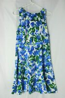 Womens Milly for Design Nation Banvin Blue Floral Dress Size 10 EUC