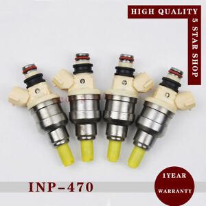 4x INP-470 15710-58B00 Fuel Injector For Suzuki Sidekick X-90 Tracker 1.6L 92-98