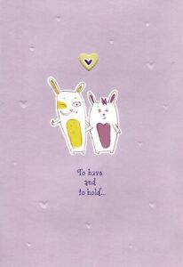 Funny Happy Anniversary Bunny Bunnies Getting Naked Hallmark Greeting Card