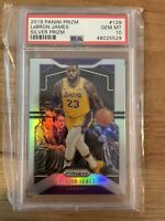 2019 Panini Prizm #129 LeBron James Silver Prizm - PSA 10 - GEM MINT Lakers!
