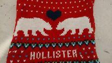 Rare Hollister Red Knitted Infinity Loop Scarf Snood Polar Bears Ex-Display BNWT