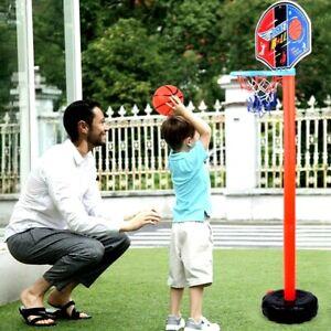 Basketball Set Stand Hoop Adjustable Kids Toy Indoor, Outdoor Height Toddler