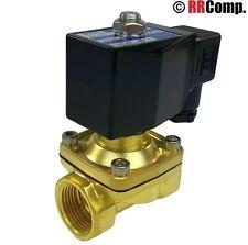 "1"" NPT 24-VOLT AC, N/C Brass Solenoid Valve, VITON Seal: Air, Water, Oil, Vac."