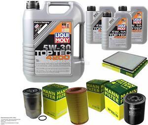 Inspection Kit Filter LIQUI MOLY Oil 8L 5W-30 For Ford Maverick Uds US 2.7 Td