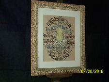 Antique Early c19th Century German Sampler Hand Done Fraktur