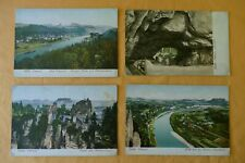 """4 alte Postkarten """"Sächsische Schweiz"""", Bad Schandau, Kuhstall, AK Lot 1900"""