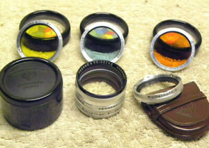 SET of SEVEN Vintage Original ROLLEIFLEX Bay-1 B1 R1 Filters & CLOSE-UP Lenses