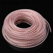 Soft Braided PTFE Silver OCC Wire Hifi Headphone Earphone Upgrade DIY Cable 5M