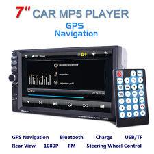 "GPS Navi 7"" HD LCD 2DIN Auto Car Stereo MP5 Player Bluetooth FM Radio USB AUX"