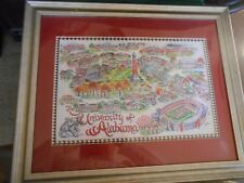 Great Framed under Glass Print  UNIVERSITY OF ALABAMA.......... FREE Postage USA