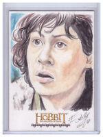 2015 The Hobbit Desolation of Smaug ELFIE LEBOULEUX 1/1 Original SKETCH ART CARD