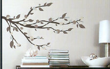 MODERN DOTTED BRANCH wall stickers 33 decals leaves wall decor mod dots