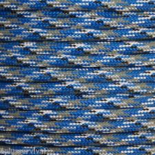 Blue Camo Paracord 50 Foot 550 lb Bracelet Camping Survival Kit Rope