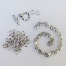 DIY Charm Bracelet Kit With Rolo Chain, Jump Ring And Toggle Clasp K2464