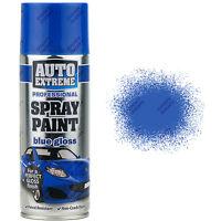4 x 400ml Blue Gloss Spray Paint Aerosol Can Auto Extreme Metal Wood