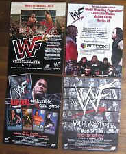 World Wrestling Federation - 4 Trading Cards Sell Sheets (no cards) Wrestlemania