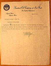 Original 1918 Standard Oil Company Socony Letterhead