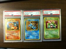 Charizard Blastoise Venusaur Big 3 Japanese pokemon CD promos PSA graded 10 GEM