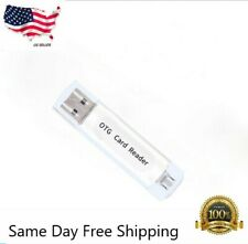 White Micro USB OTG to USB 2.0 Adapter SD/Micro SD Card Reader with standard USB