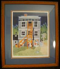 Rie Munoz Alaska Artist Limited Ed Lithograph SIGNED Dinner at the Caribou Hotel