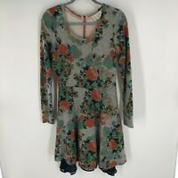 Anthropologie Saturday Sunday Long Sleeve Short Fall Floral Knit Dress Size S