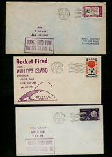 Group *SEVEN DIFFERENT* 1961/1965 Wallops Island launch covers - 4 to Germany !