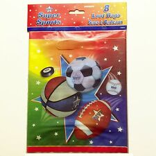 Super Sports Loot Bags, Sports Banquet, Party Favor, Goody, Gift - 8 bags