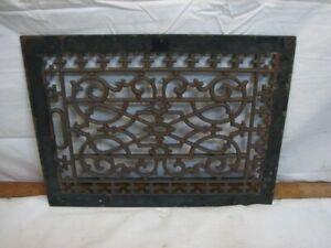 Cast Iron Floor Ornate Register Heat Grate Vent Grille Architectural 10 X 14 J