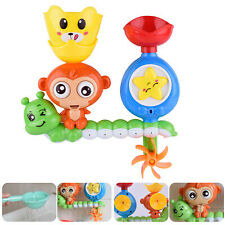 Children Kids Bath Toy Wall Sunction Water Play Sprinkler Game (Monkey)