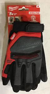 Milwaukee 48-22-8731 Breathable Armortex Smart Swipe Demolotion Gloves - M NEW