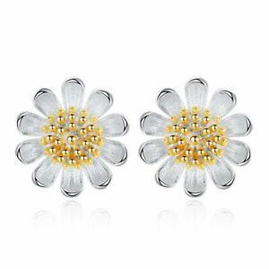 Fashion 925 Silver Heart Crystal Zircon Ear Stud Earrings Women Jewelry Gift New