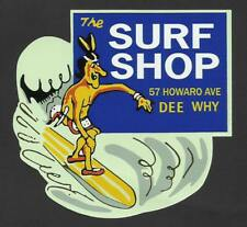 DEE WHY BEACH SURF SHOP Sticker Decal SURFING 1960's surfboard surf longboard
