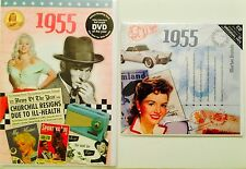 1955 62nd Birthday Gifts Set - 1955 DVD , Pop CD and Card - CD Card Company.