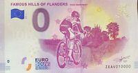 BILLET 0  EURO FAMOUS HILLS OF FLANDERS  BELGIQUE 2019  NUMERO 10000 DERNIER