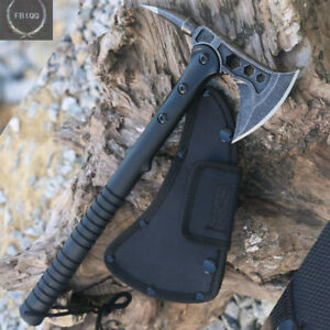 CAMPING SURVIVAL TOMAHAWK OUTDOOR AXE BATTLE Hatchet Hunting Knife Tactical Ax