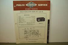 PHILCO RADIO-CLOCK SERVICE MANUAL MODEL B711 CODE 121