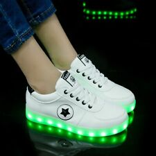 Size 30-41 LED Shoes For Kids & Adults USB Recharge Glowing Sneakers With Light