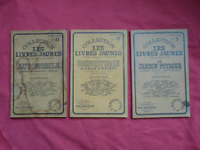 3 LIVRES collection LES LIVRES JAUNES JARDIN EBENISTERIE AUTOMOBILE