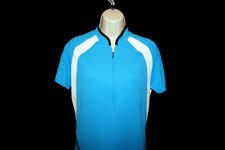 She Beest Cycling Shirt Top Womens M Blue White Rear Pockets Pouch Mesh Jersey