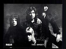 The Sweet RCA Autogrammkarte 70er Jahre  TOP ## BC 52681